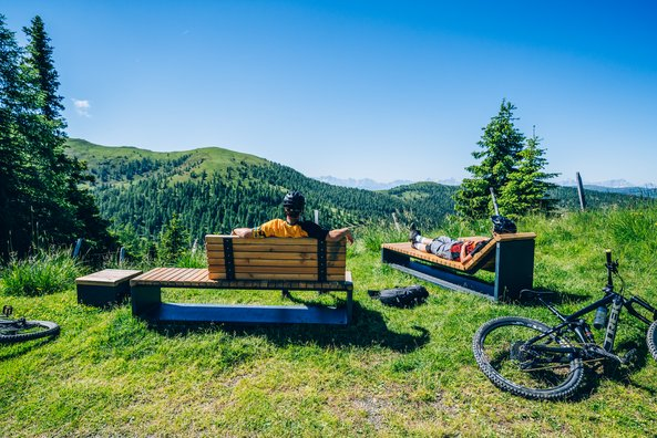 zone relax sul percorso Flow Country Trail Bad Kleinkirchheim